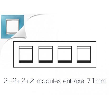 Plaque lux 8m 2+2+2+2 horizontal verre aigue marine Gewiss chorus