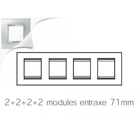 Plaque lux 8m 2+2+2+2 horizontal verre glace Gewiss chorus