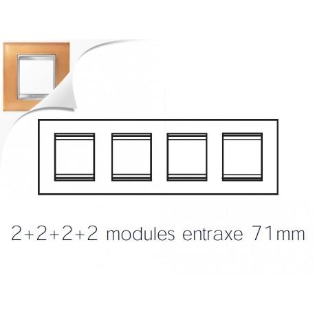 Plaque lux 8m 2+2+2+2 horizontal verre ocre Gewiss chorus