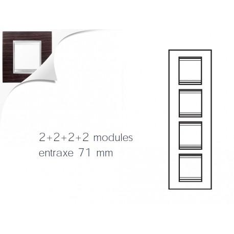 Plaque lux 8m 2+2+2+2 vertical wengue Gewiss chorus