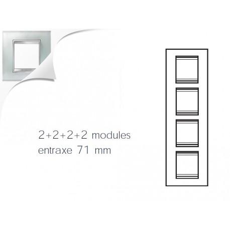 Plaque lux 8m 2+2+2+2 vertical verre glace Gewiss chorus