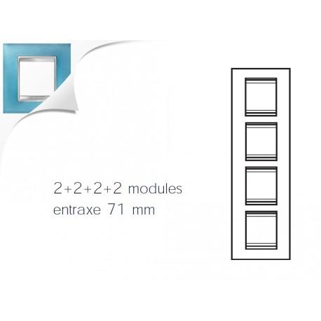 Plaque lux 8m 2+2+2+2 vertical verre aigue marine Gewiss chorus