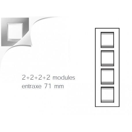 Plaque lux 8m 2+2+2+2 vertical titane Gewiss chorus