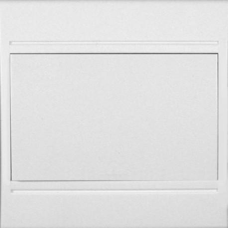 Bouton poussoir porte etiquette blanc complet Eurohm pleiade
