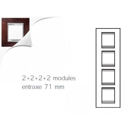 Plaque lux 8m 2+2+2+2 vertical fer oxyde Gewiss chorus