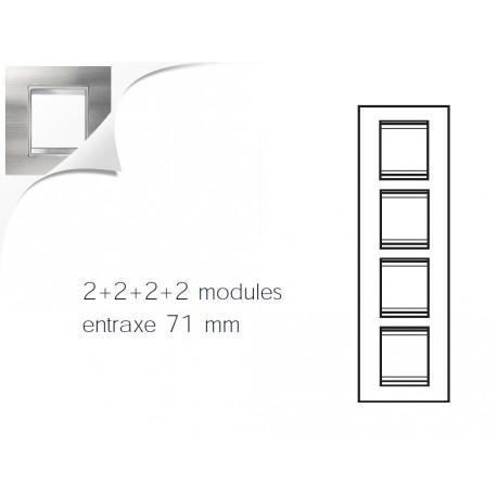 Plaque lux 8m 2+2+2+2 vertical inox brosse Gewiss chorus