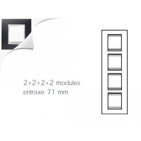 Plaque lux 8m 2+2+2+2 vertical noir toner Gewiss chorus