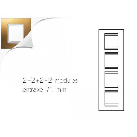 Plaque lux 8m 2+2+2+2 vertical or Gewiss chorus