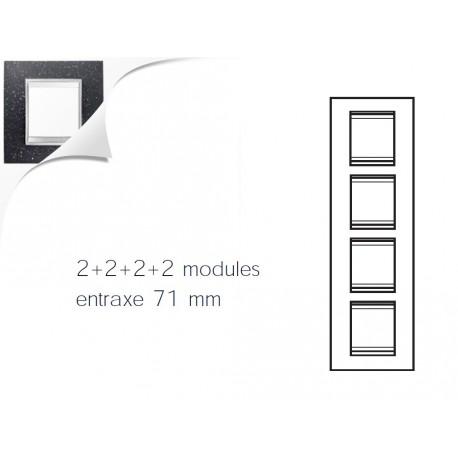 Plaque lux 8m 2+2+2+2 vertical pierre lave Gewiss chorus