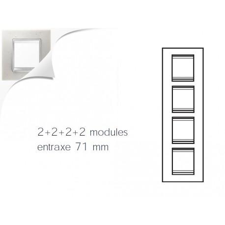 Plaque lux 8m 2+2+2+2 vertical pierre lune Gewiss chorus
