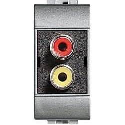 double connecteur type rca livinglight tech 1 module