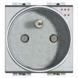 prise 2p t lampes temoins livinglight connexion a vis tech 2 modules