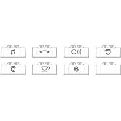 kits de 5 pictos par type eclairables avec symboles fonctions blanc