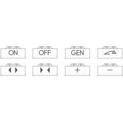 kits de 5 pictos par type eclairables avec symboles generiques blanc