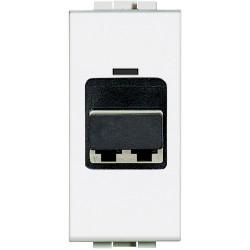 connecteur d accouplement pour cable fibre optique livinglight blanc 1 mod