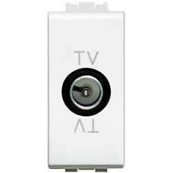 prise tv passage 1 module livinglight blanc