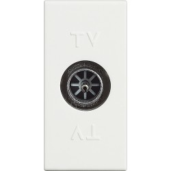 prise tv coaxial derive 1 module livinglight blanc