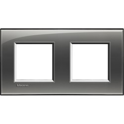 plaque livinglight kristall 2 2 modules entraxe 71 mm brouillard