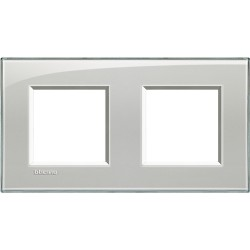 plaque livinglight kristall 2 2 modules entraxe 71 mm gris