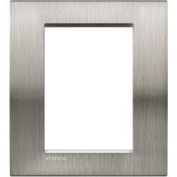 plaque livinglight naturalia 3 3 modules acier brosse