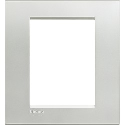 plaque argent livinglight 3 3 modules