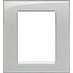 plaque livinglight kristall 3 3 modules gris