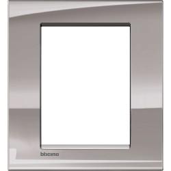 plaque nickel livinglight 3 3 modules