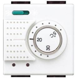 thermostat electronique d ambiance avec commutateur ete hiver livinglight blanc