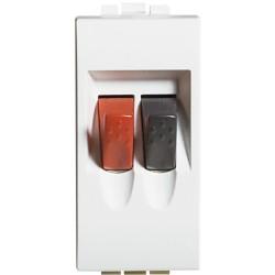 connecteurs audio video pour haut parleur livinglight blanc 1 module