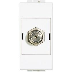 prise tv simple type f a visser livinglight blanc 1 module