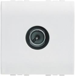 prise tv simple etoile blindee livinglight blanc 2 modules