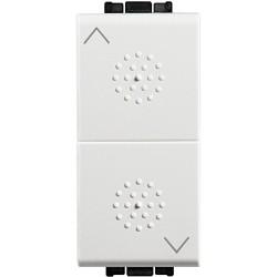 inverseur a position fixe livinglight pour vr 16 a 250 v blanc 1 module