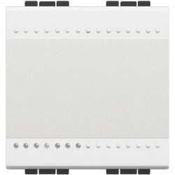 poussoir a bascule livinglight contact no 10 a 250 v blanc 2 mod