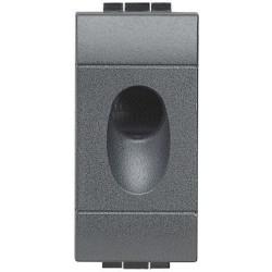sortie de cable livinglight anthracite 1 module