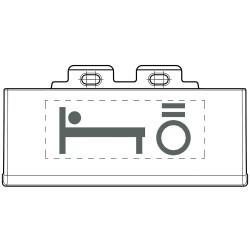 kits de 50 pictos eclairables avec symbole lumiere lit anthracite