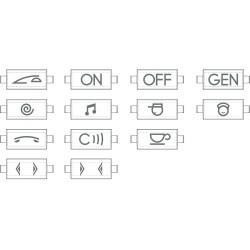 kit de pictogrammes pour manette personnalisable livinglight anthracite