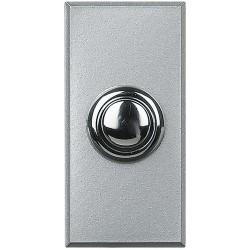 poussoir bouton rond axolute 16ax 250v connexion auto alu 1 module