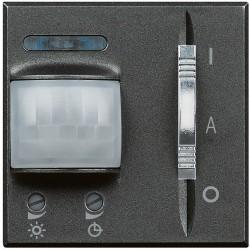 detecteur 3 fils avec neutre avec derogation axolute anthracite 2 mod