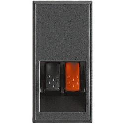 connecteurs audio video pour haut parleur axolute anthracite 1 module