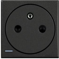 prise 2p t surface axolute connexion auto anthracite 2 modules