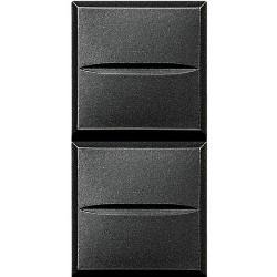 double poussoir axolute no no 10a 250v connexion auto anthracite 1 mod