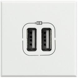 chargeur usb prise double axolute 5 v 230 v white 2 modules