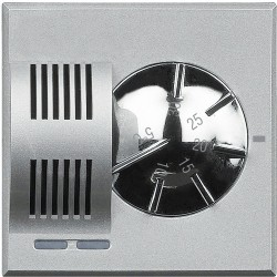 thermostat d ambiance electronique axolute alu 2 modules