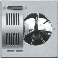 thermostat d ambiance 2a 230v 2 modules axolute alu