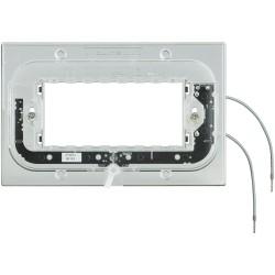 support axolute lumineux pour plaques rectangulaire 4 modules a vis