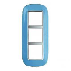 Plaque Axolute Translucide Bleu - 3 x 2 modules entraxe 57