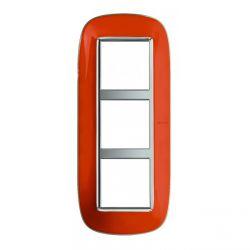 Plaque Axolute Translucide Orange - 3 x 2 modules entraxe 57