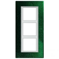 Plaque Axolute Vert - 3 x 2 modules entraxe 57
