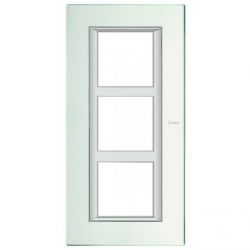 Plaque Axolute Miroir dépoli - 3 x 2 modules entraxe 57