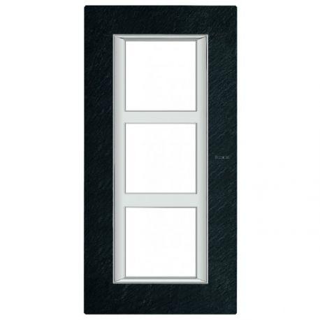 plaque axolute ardoise 3 x 2 modules entraxe 57 bticino ha4832 3rlv. Black Bedroom Furniture Sets. Home Design Ideas